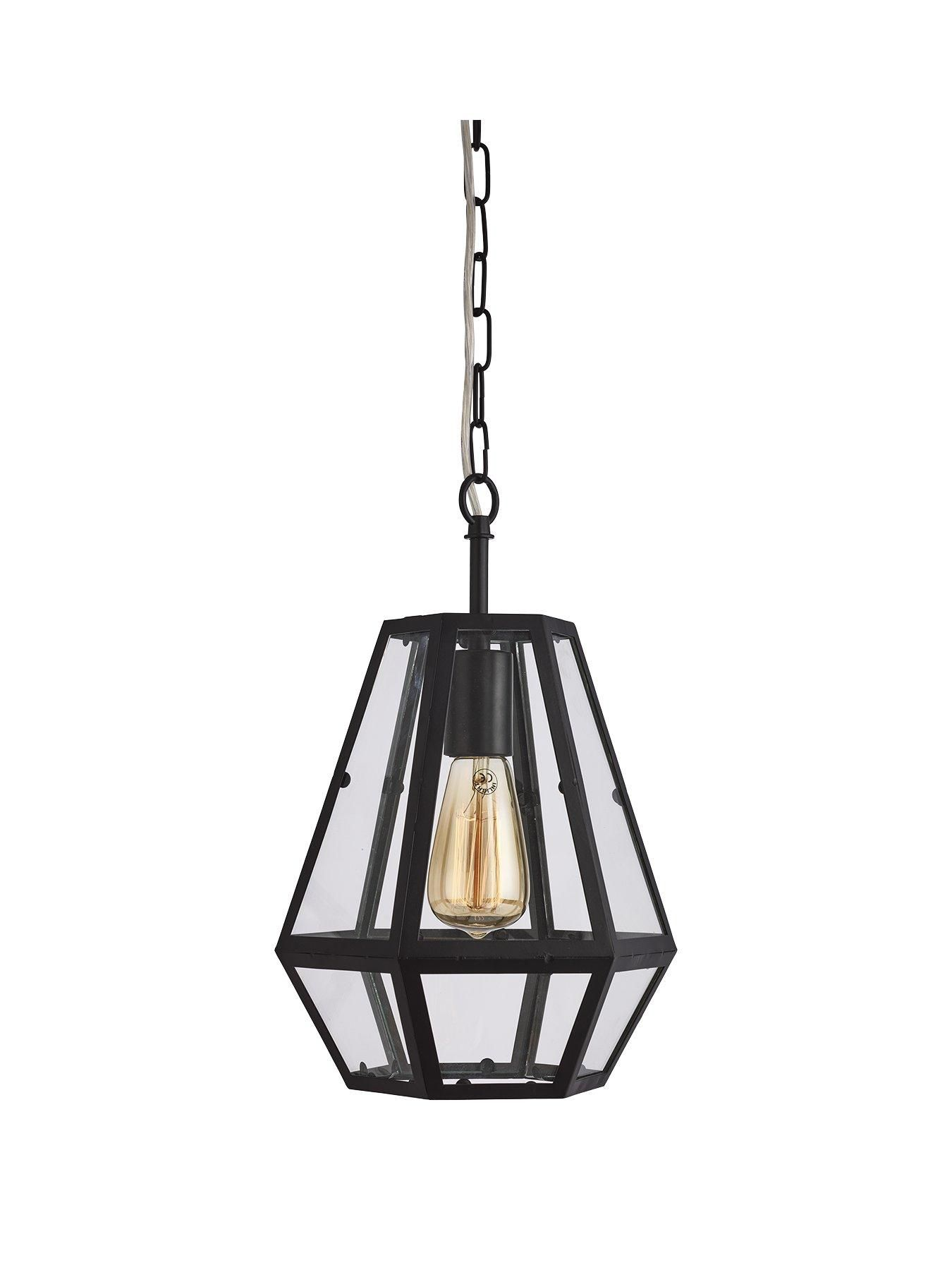 chicago hexagonal caged pendant light very co uk georges room