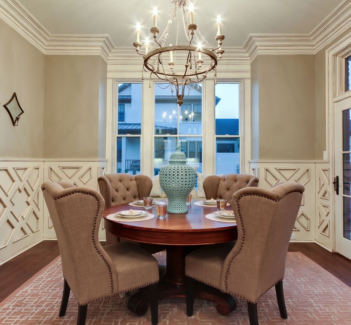 Love The Molding Wingback Chairs In The Dining Room I