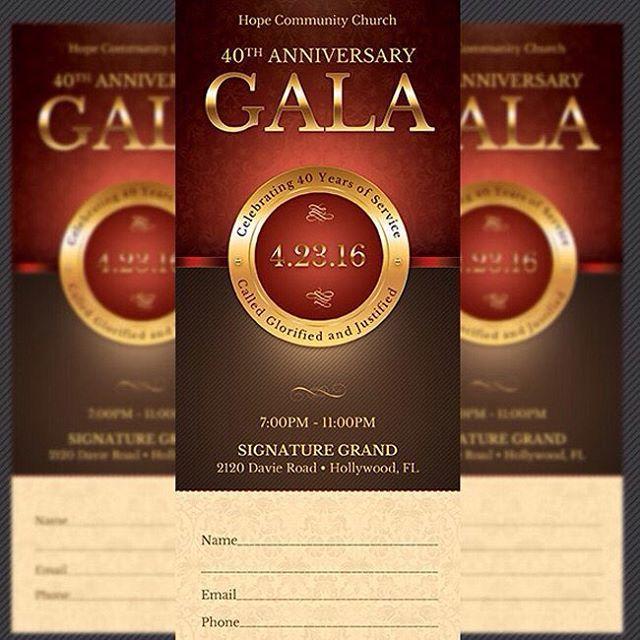 Church Anniversary Gala Ticket Template