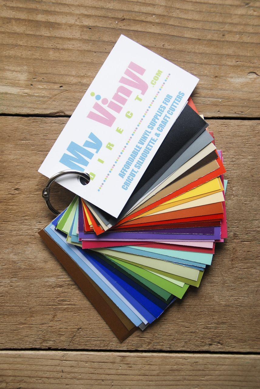 VINYL Color Sample Decks **SHIP FREE | Cricut | My vinyl