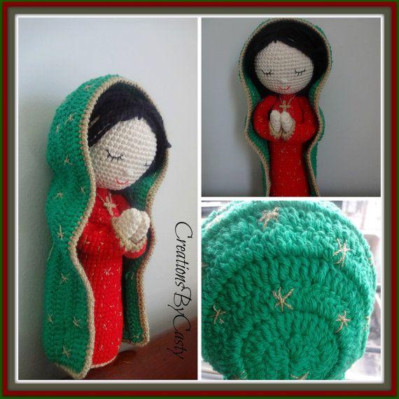 La virgencita de Guadalupe ....Doll Amigurumi , Handmade Crochet ...