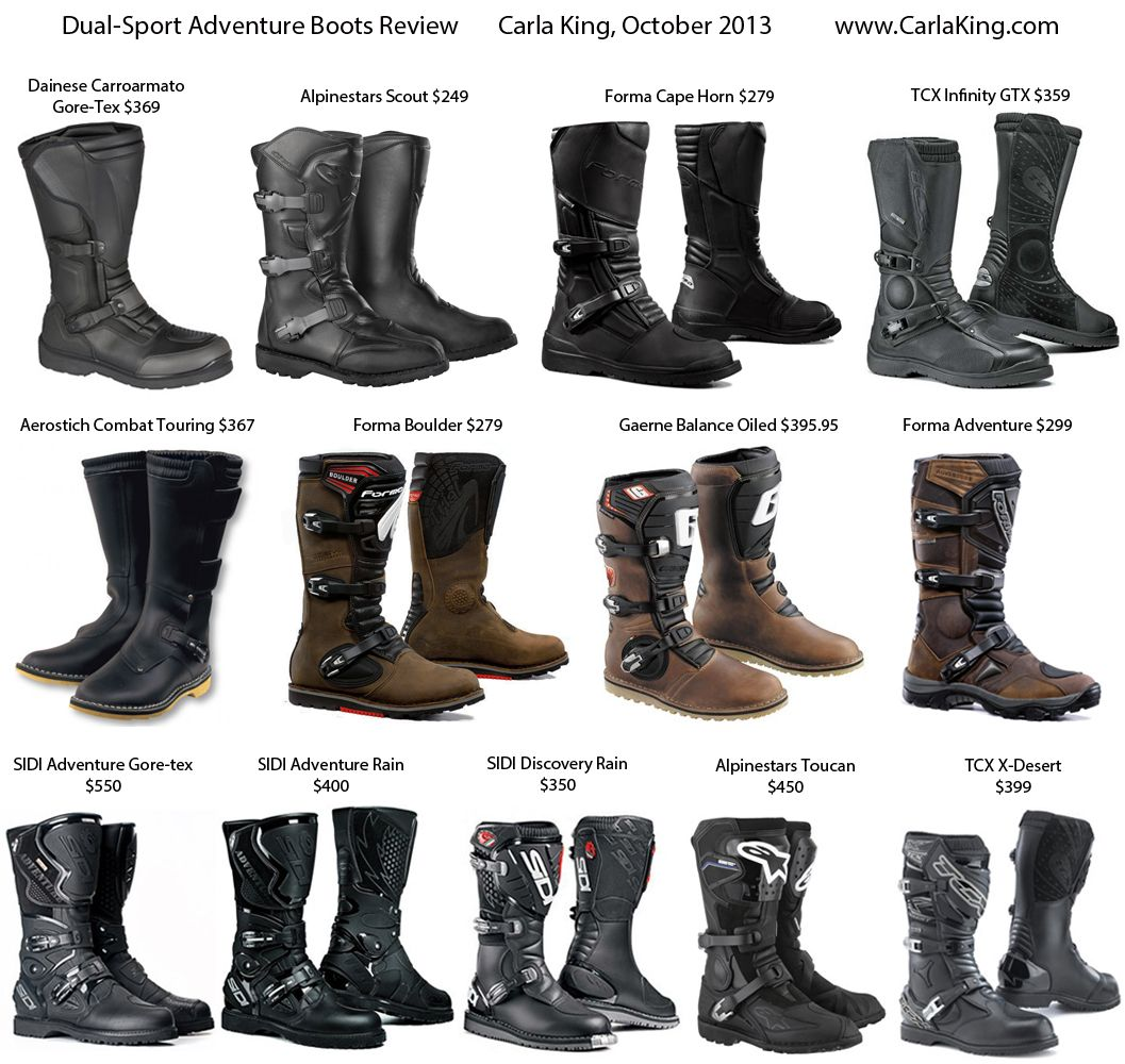 DualSport Adventure Touring Motorcycle Boot Review