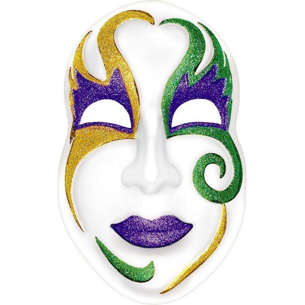 Fiery Angel Mardi Gras Mask Green