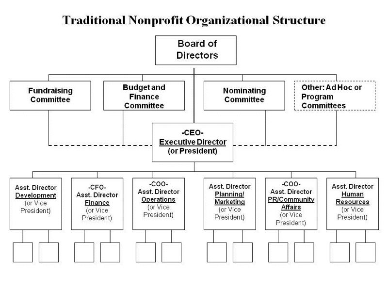 Traditional Nonprofit Organizational Structure  Non Profit