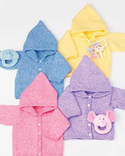 Baby's Hoodie - essential but so incredibly useful - many sizes - pattern by Bernat Design Studio