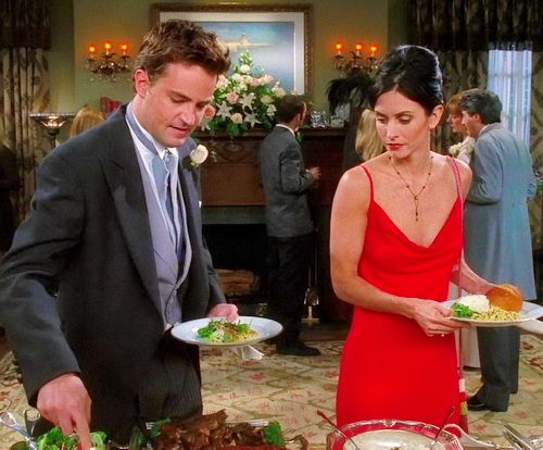 friends monica and chandler hook up