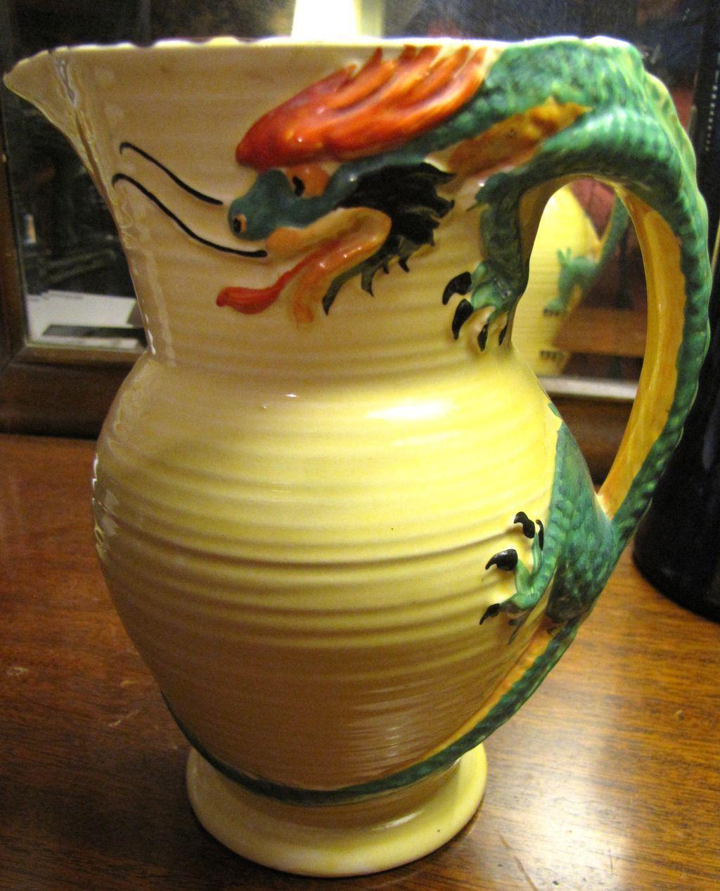 Sublime 1930s art deco burgess leigh burleigh ware cottage 1940s deco burleigh ware jug with dragon handle reviewsmspy