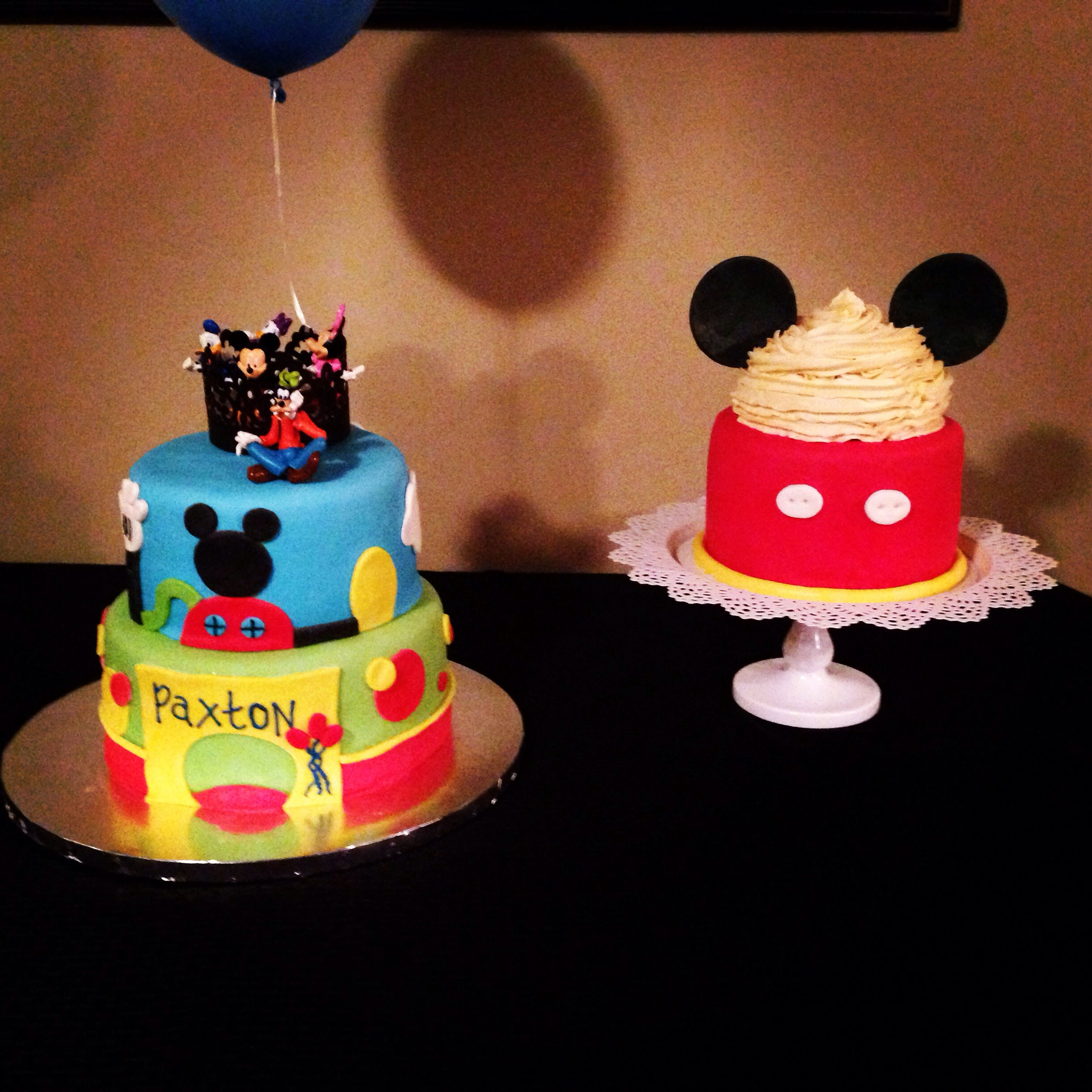 Mickey Mouse Smash Cake: Mickey Mouse Clubhouse And Mickey Smash Cake