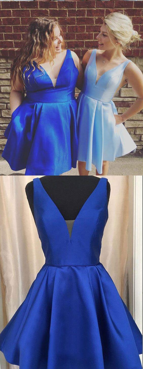Plus size royal bluesky blue short homecoming dresses under