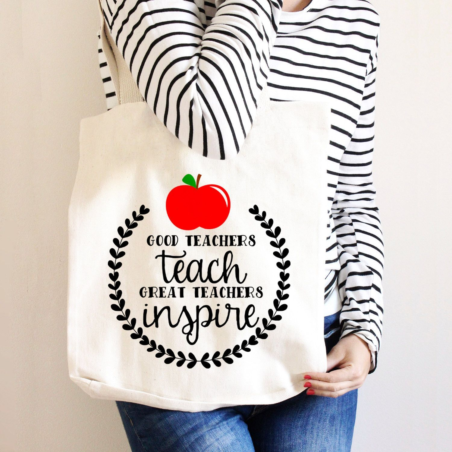 PERSONALISED Tote Bag Thank You Teacher School Gift 2019 World/'s Best Natural