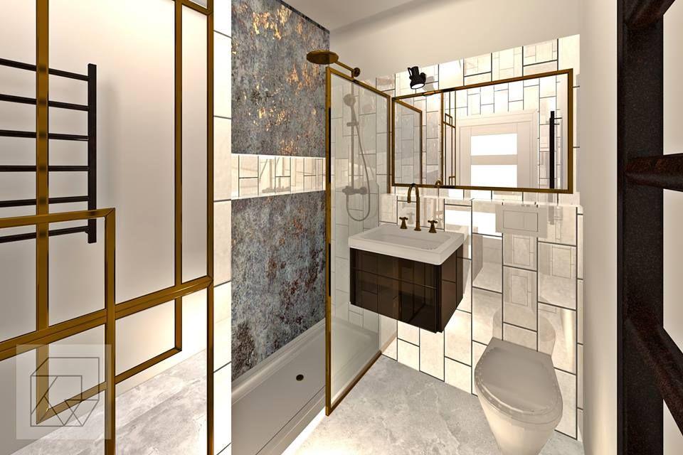 Projekt łazienki Wersja W Miedzi Trendy 2018 Projects