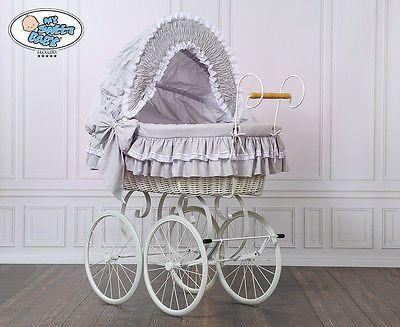 My sweet baby retro stubenwagen nostalgiestubenwagen weide xxxl grau