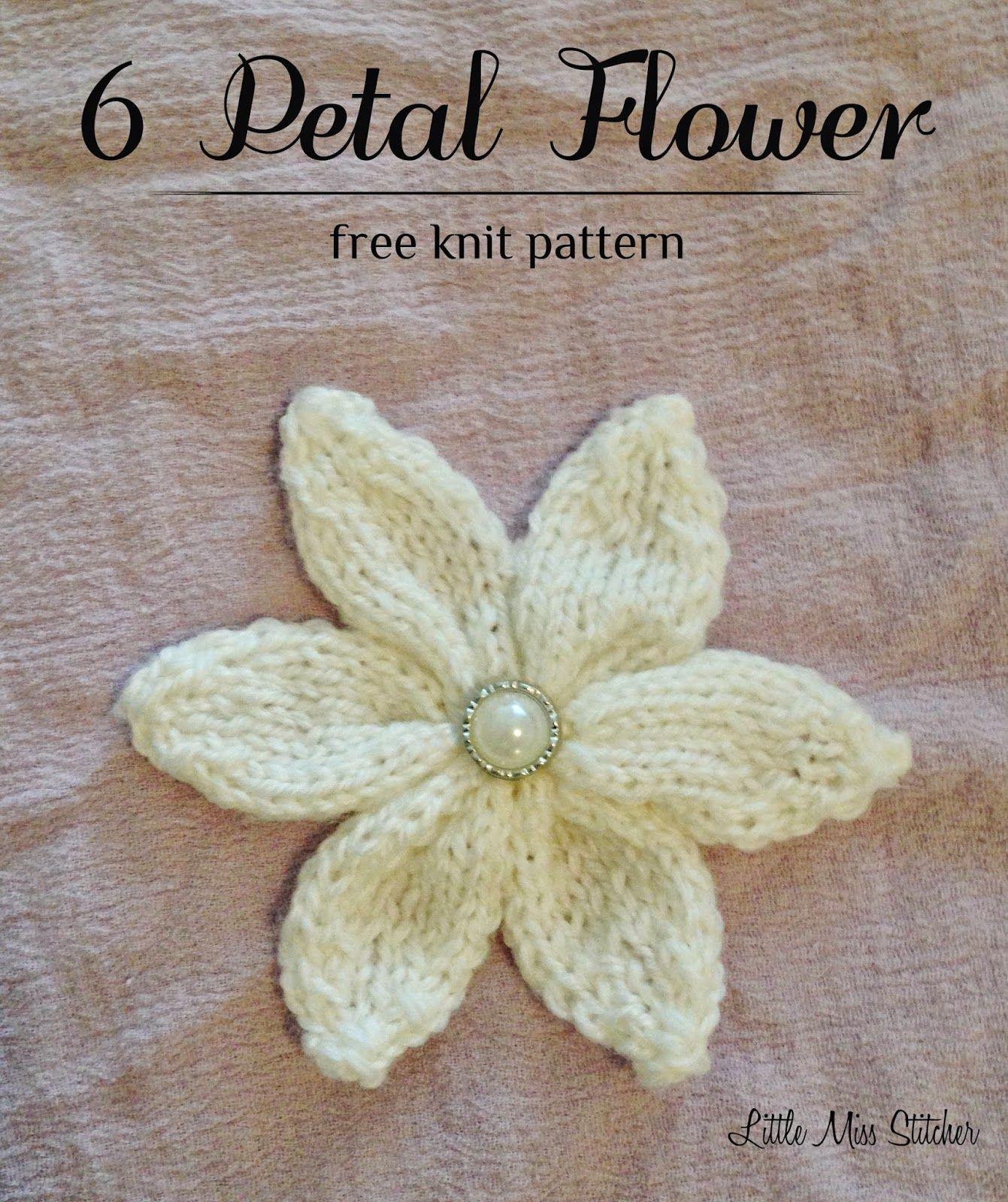 Little miss stitcher 6 petal knit flower free pattern little little miss stitcher 6 petal knit flower free pattern bankloansurffo Gallery