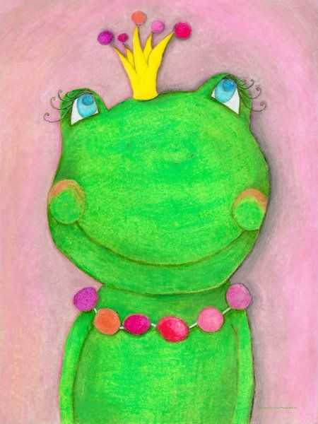 Bilder für kinderzimmer auf leinwand selber malen mädchen  Froschkönigin   Geschenkidee by Go For Success   Pinterest ...