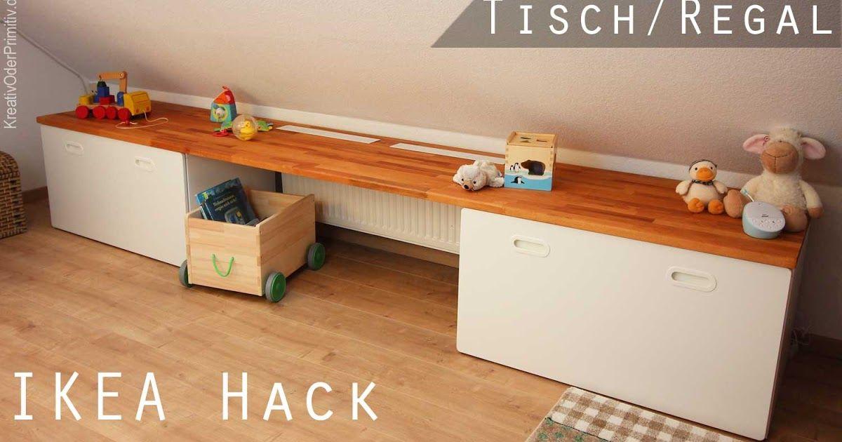 Dachschrägen Tisch/Regal - Ikea Hack Stuva/Fritids