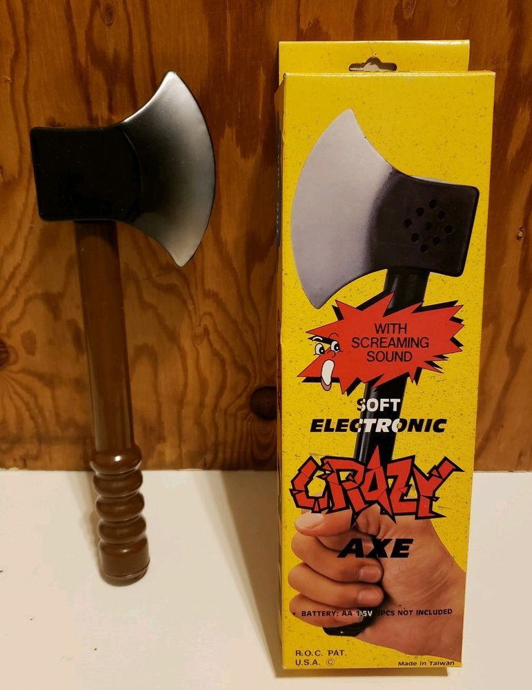 Soft Electronic CRAZY AXE w/ Screaming Sounds Halloween