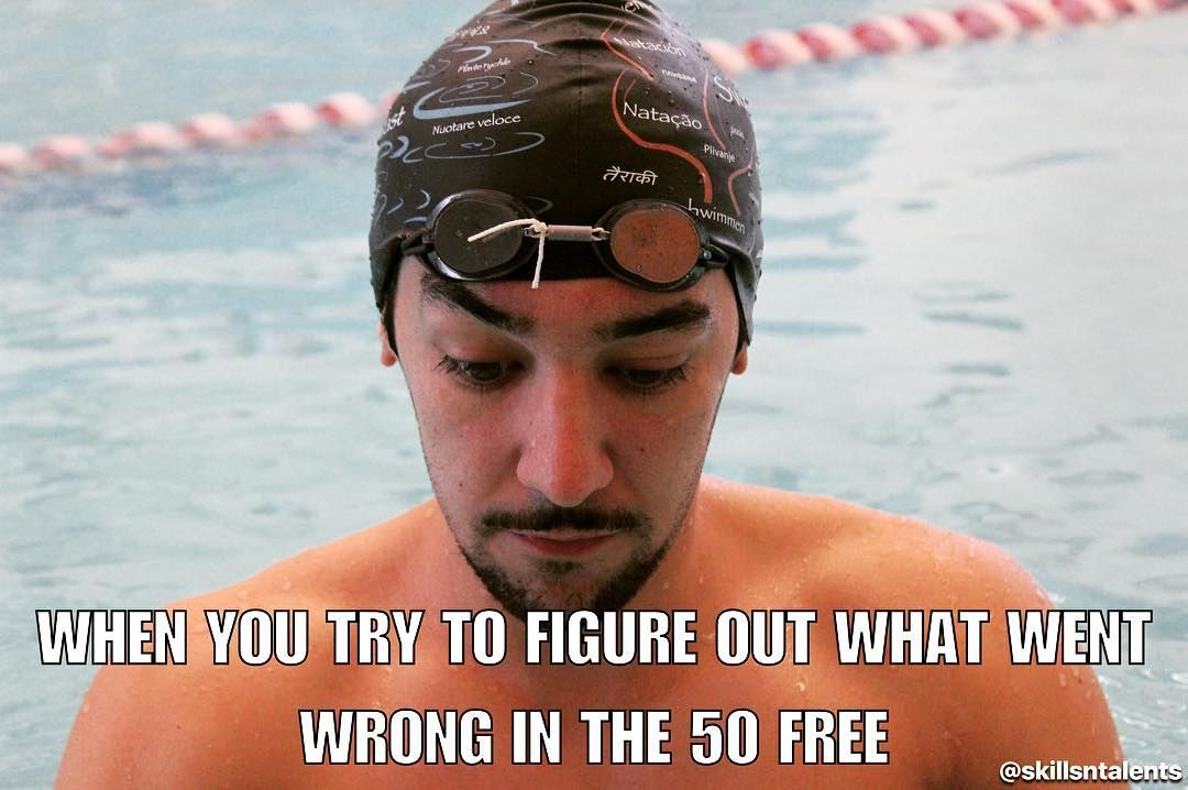 It all just happens too fast cool swim cap by the way