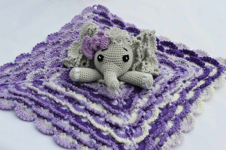 A personal favorite from my Etsy shop https://www.etsy.com/listing/455833600/elephant-lovey-crochet-elephant-lovey