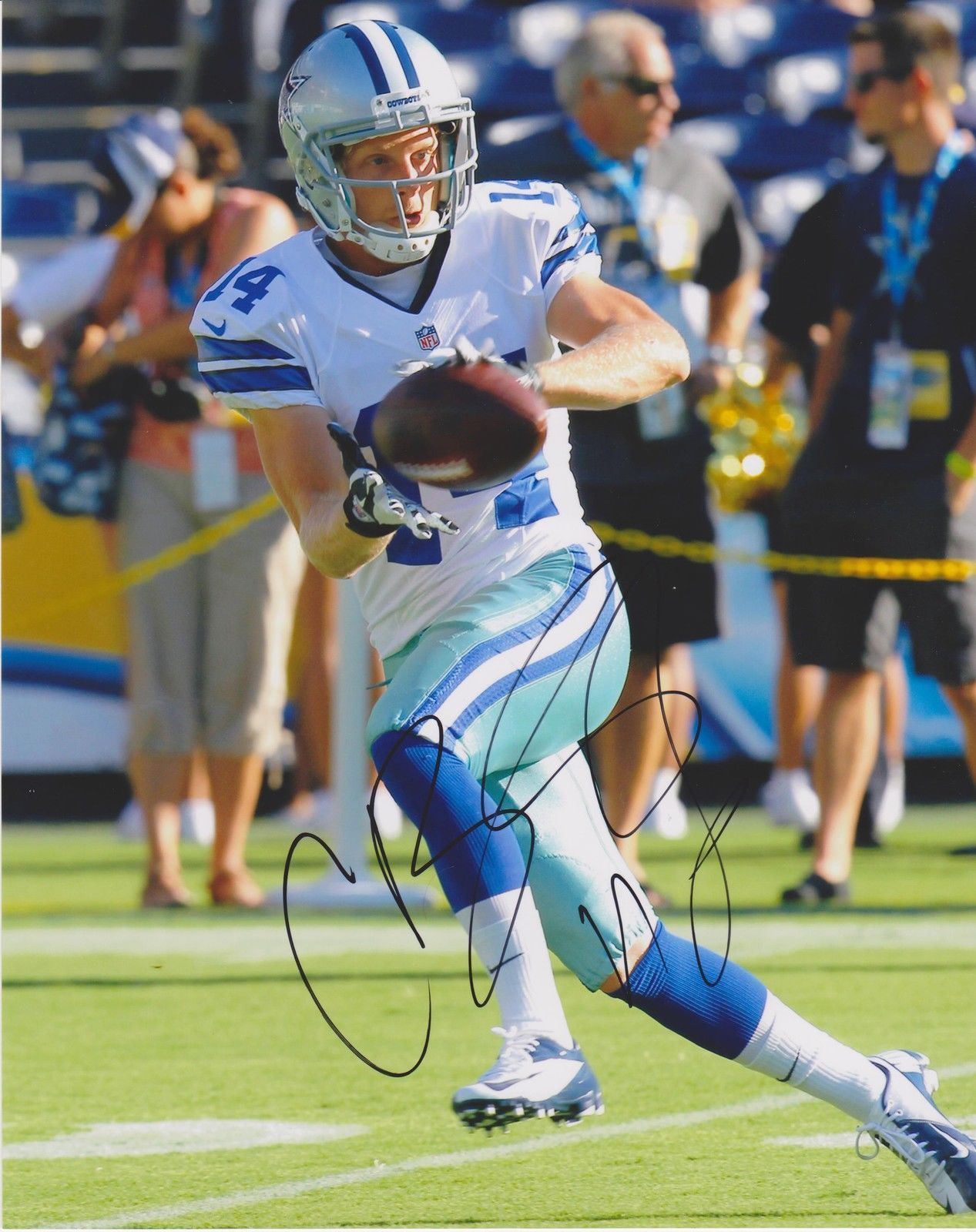 Cole Beasley Dallas Cowboys signed auto 8x10 photo