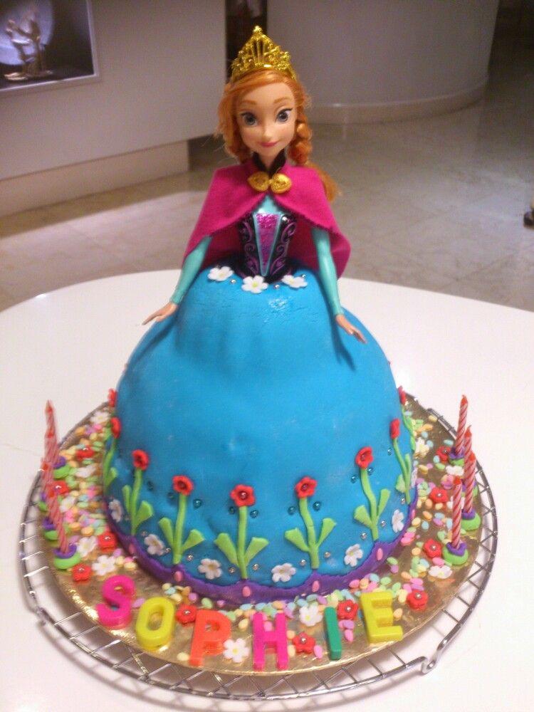 Birthdaycake Frozenanna My Daughters 8th Birthday Cake Another