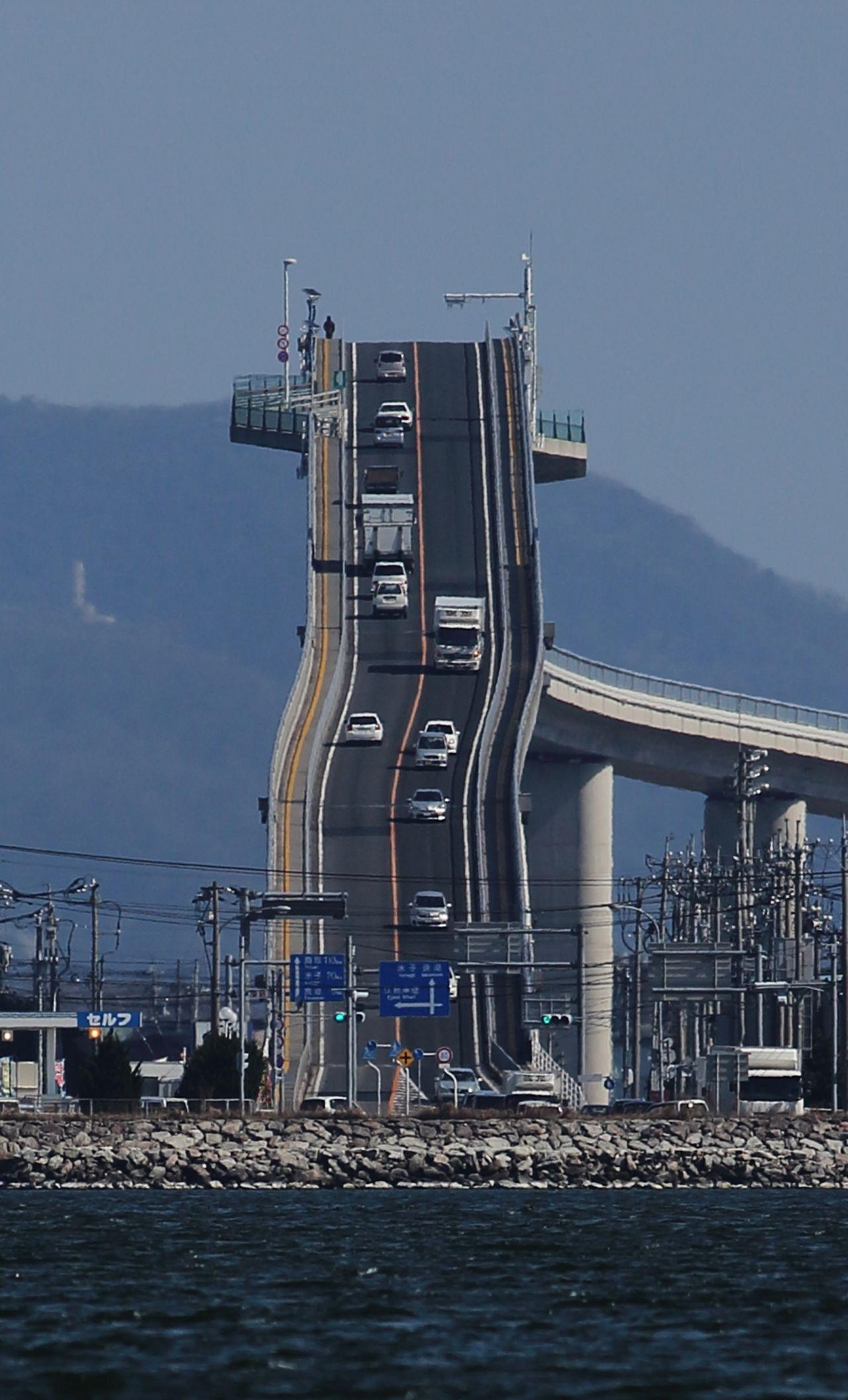 Eshima Longbridge 江島大橋 ( Eshima Ohashi ) Sakai minato Tottori 鳥取県境 ...