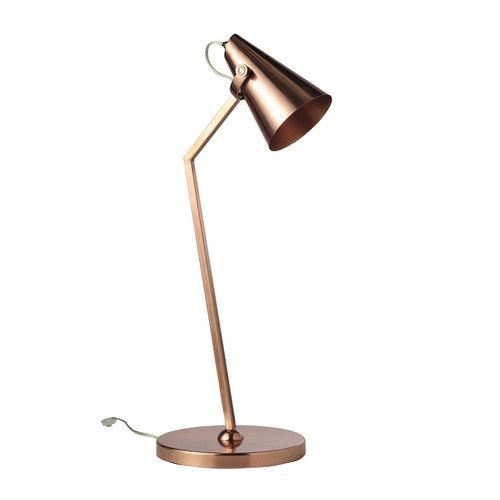 Lampada da scrivania in metallo ramato H 70 cm COPPER