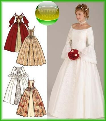 Medieval Wedding Dress Patterns