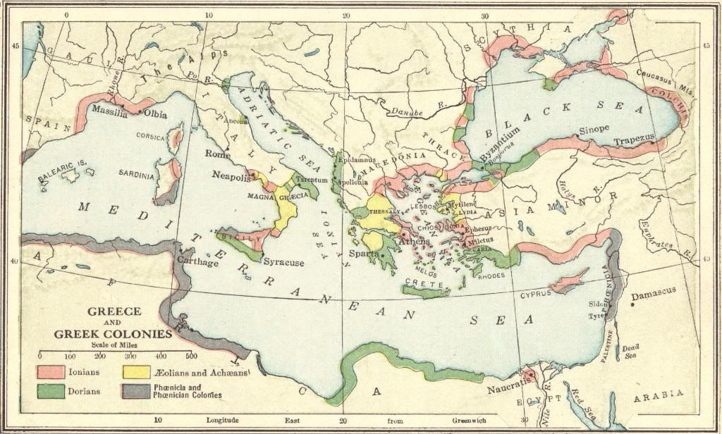 Map Of Ancient Greece And The Ancient Greek Colonies Ancientgreece