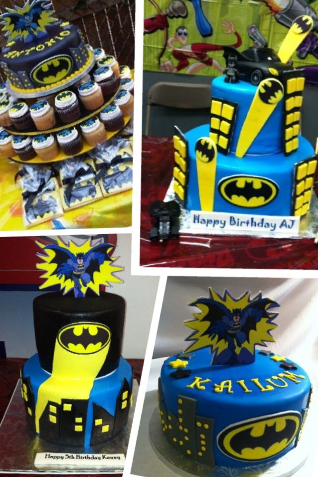 Batman Themed Birthday Cakes Cupcakes Recipes 3 Pinterest