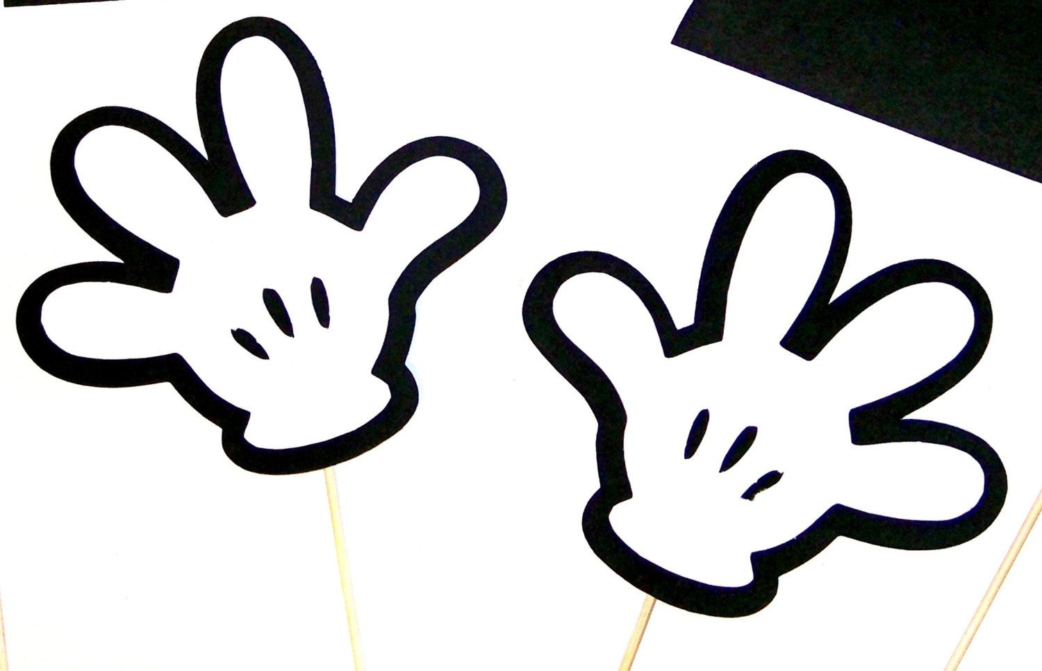 Photo booth props disney mickey minnie mouse by pimpyourparty photo booth props disney mickey minnie mouse hands photobooth 2 pcs party props for your party or wedding photos pronofoot35fo Choice Image