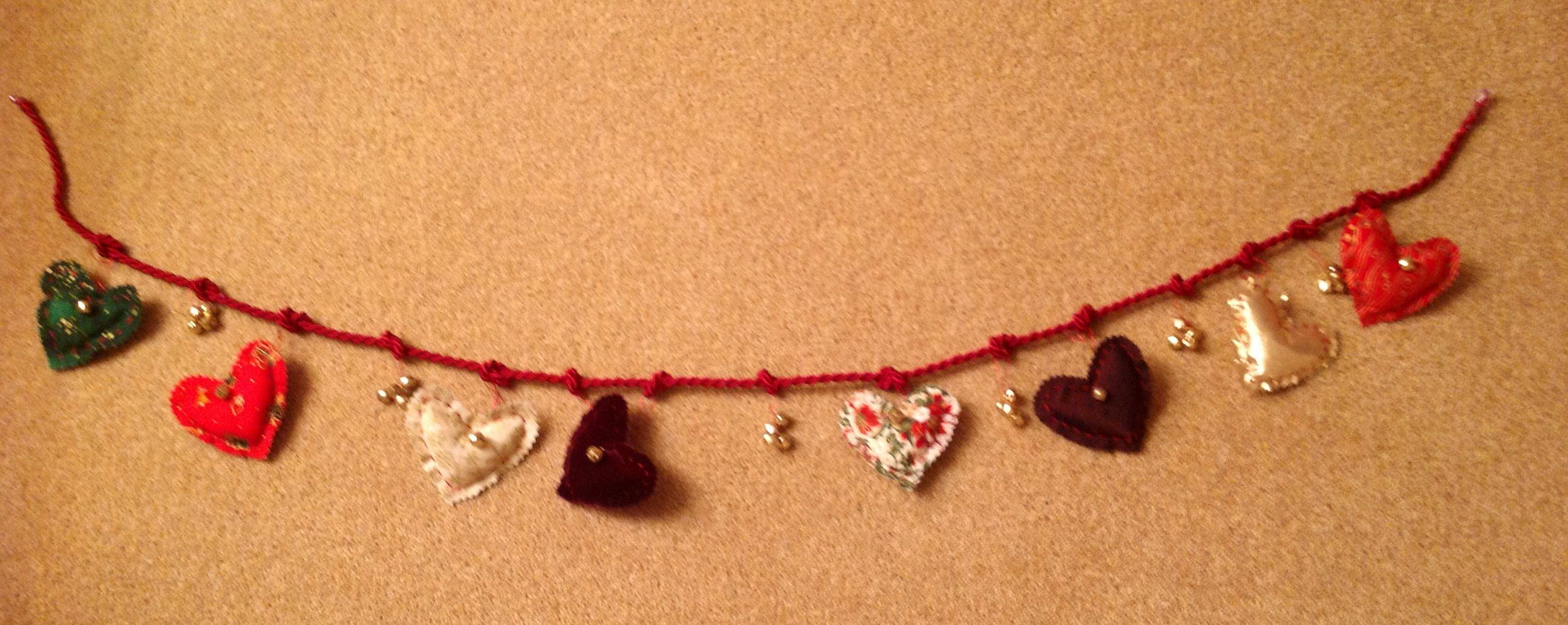 Christmas Heart Garland Inspired By Kirstie Allsop