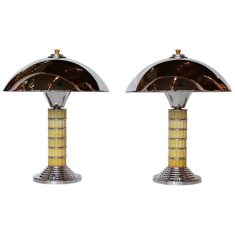 Dome Lamps Products In 2019 Art Deco Table Lamps Copper