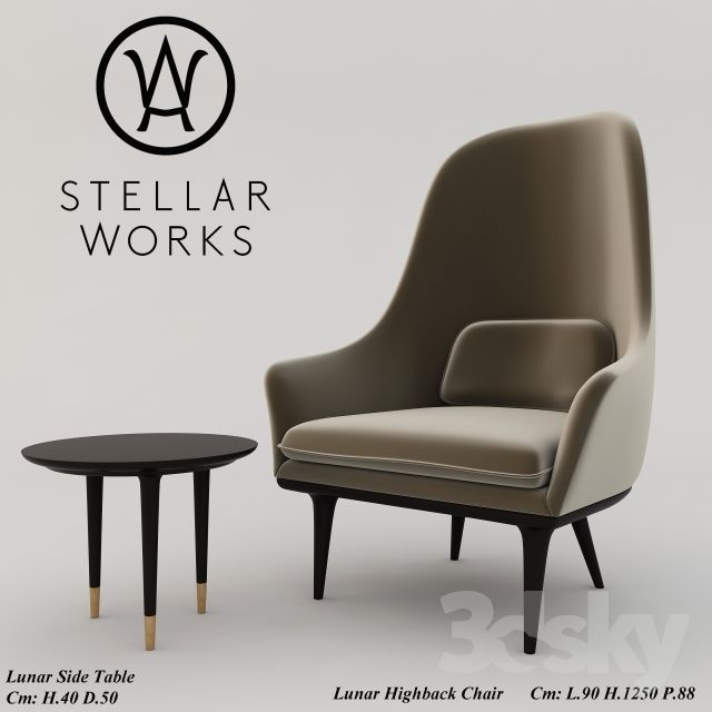 Stellar Works Lunar Upholstery Armchair Modern Upholstery