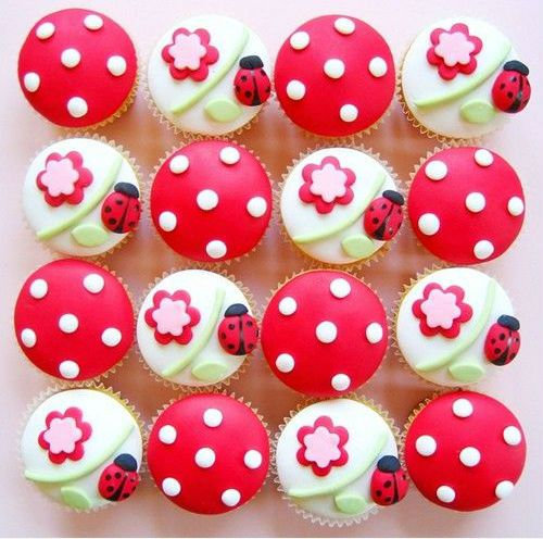 ladybug birthday party ideas | can be made with ladybugs. You can make the whole cake as one ladybug ...