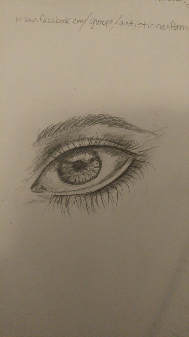 Started an online drawing class this week this eye is my first drawing the class is on udemy and its called the ultimate drawing course