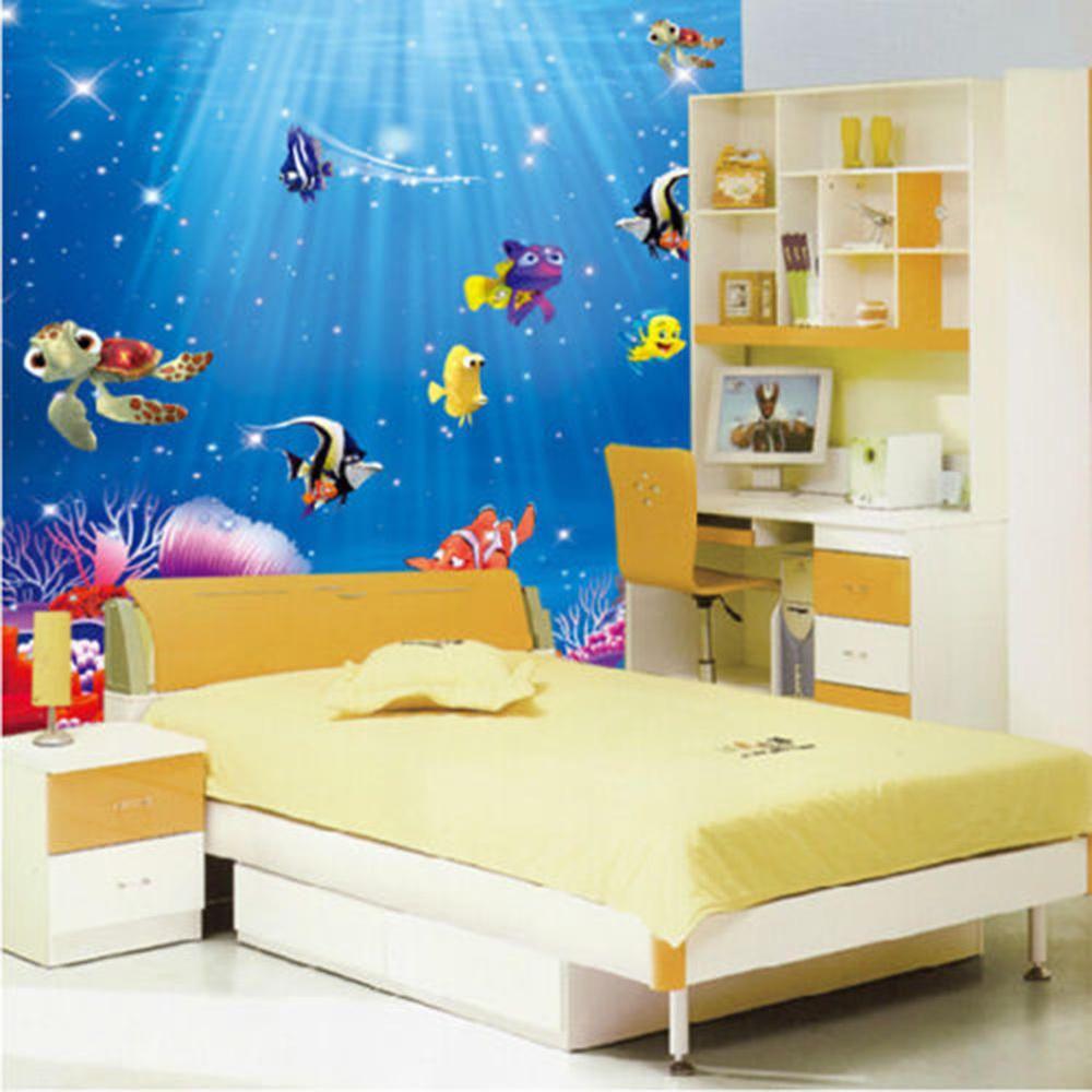Funny Beautiful Ocean Sea Fish Vinyl Mural Wall Sticker Kids Room ...