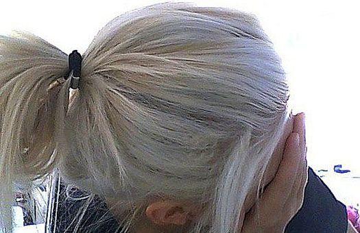 grey hair - ponytail