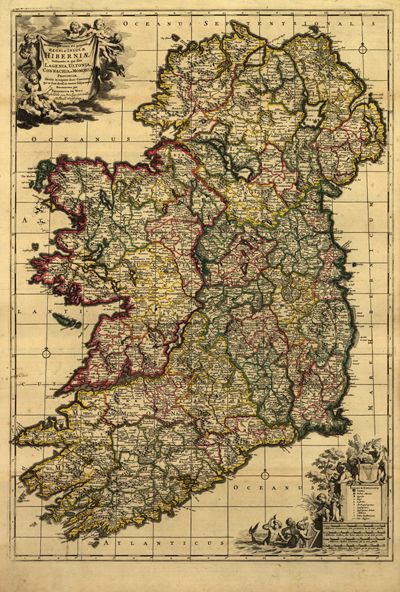 Vintage map of ireland frame it for wall art in a living roomstudy cheap wall sticker buy quality map vintage directly from china vintage map suppliers hd vintage ireland map oil painting print on canvas retro wallpaper publicscrutiny Image collections