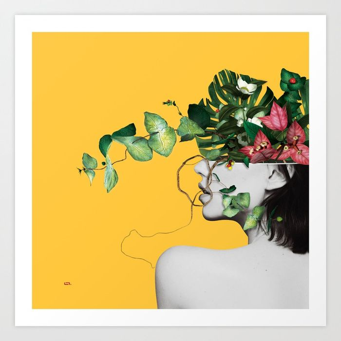 Buy Lady Flowers Art Print by linco7n. Worldwide shipping available ...