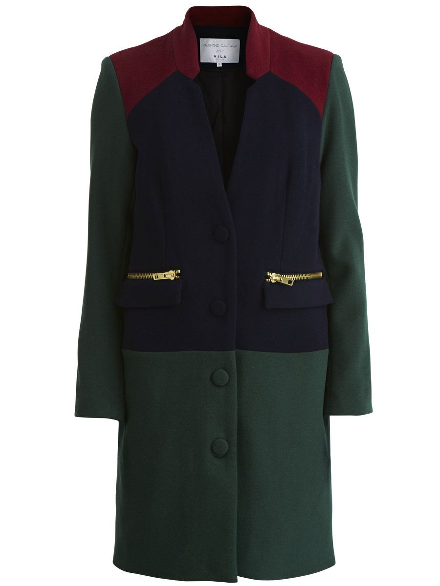 VIVALENTINE - WINTER WOOL COAT, Black Iris 95%