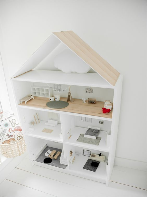 Tover een BILLY boekenkast om tot een mooi poppenhuis | IKEA IKEAnl ...