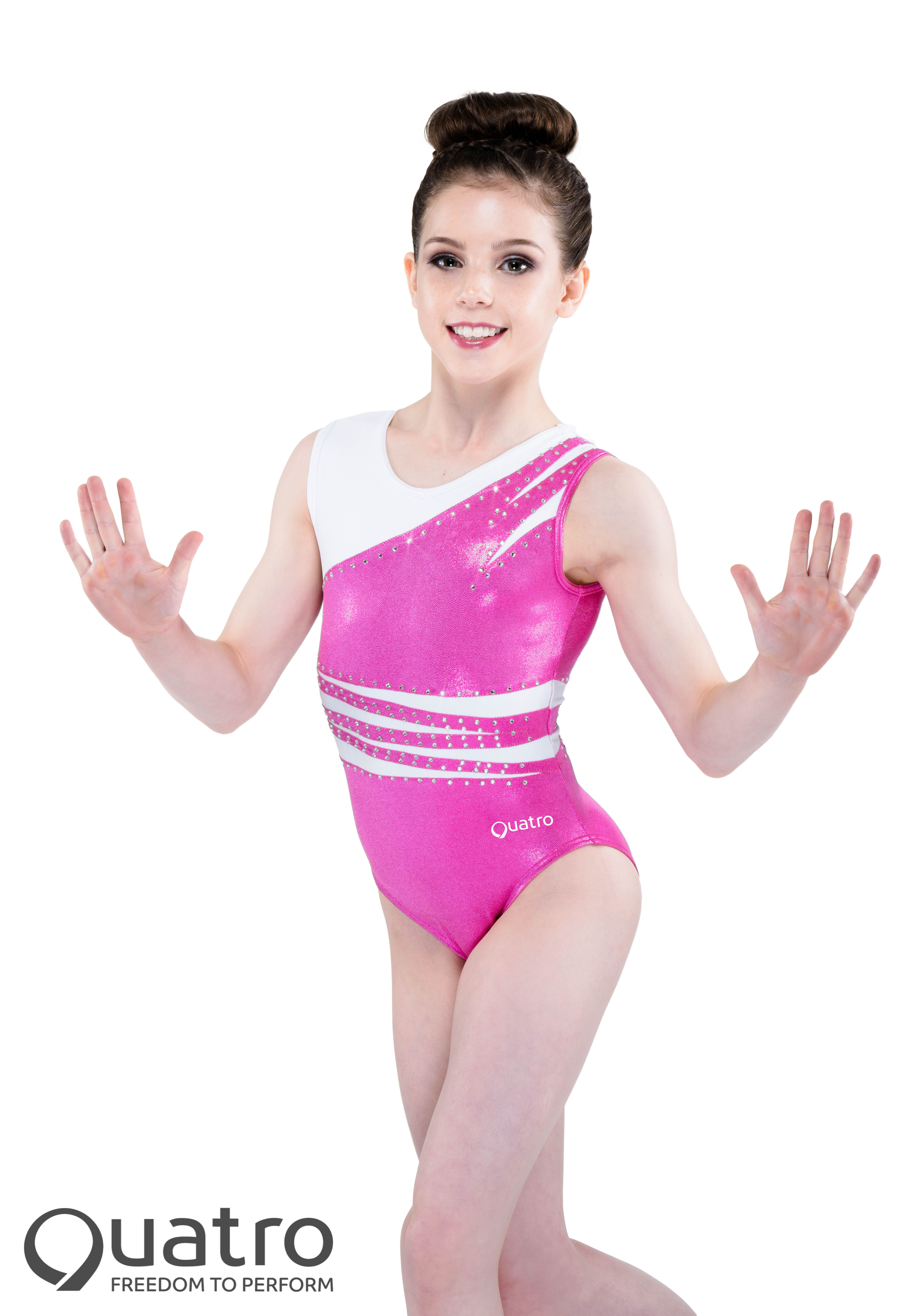 77d23ee73cf3 Pin by Quatro Gymnastics on Girls Pink Leotards