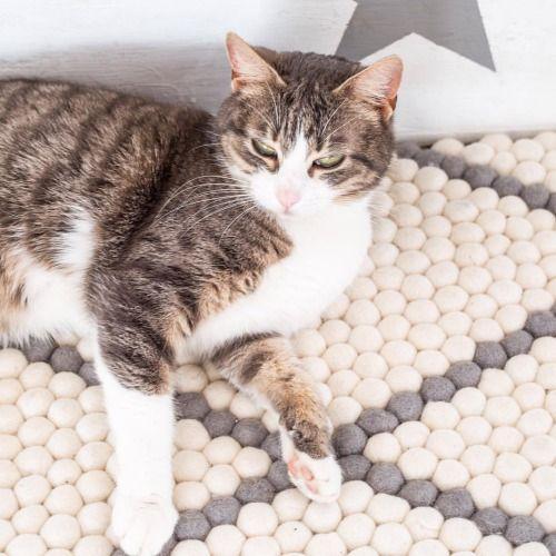Kissanpäiviä @pomponetti -blogissa   www.sukhimatot.com #sukhimatot #sisustus #kissa #matto