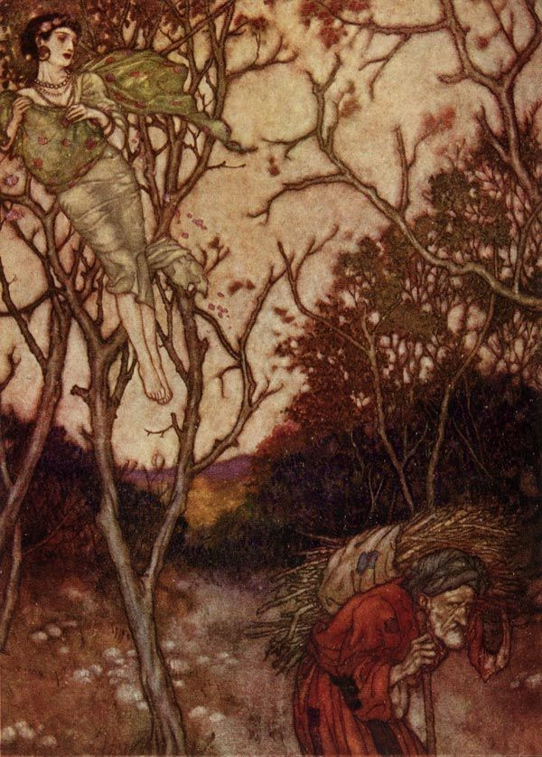 'That spring should vanish with the rose' from The Rubaiyat - Edmund Dulac illustration