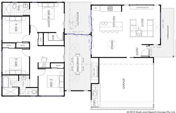 I Like The Breezeway Home Design Plans House Plans Beach House Design