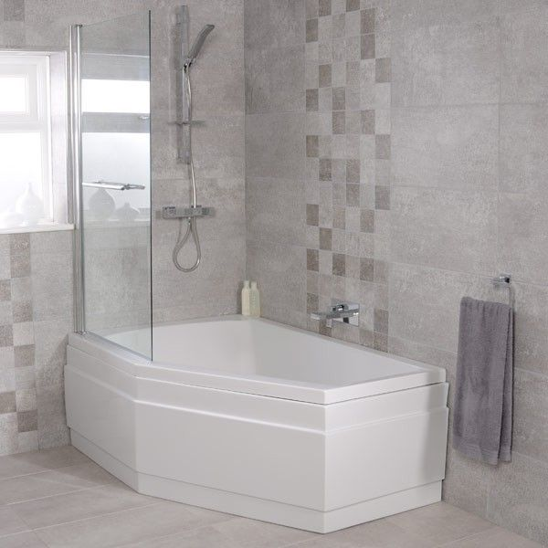 1500 Shower Baths trio 1500 x 1000 left hand shower bath | home decor | pinterest