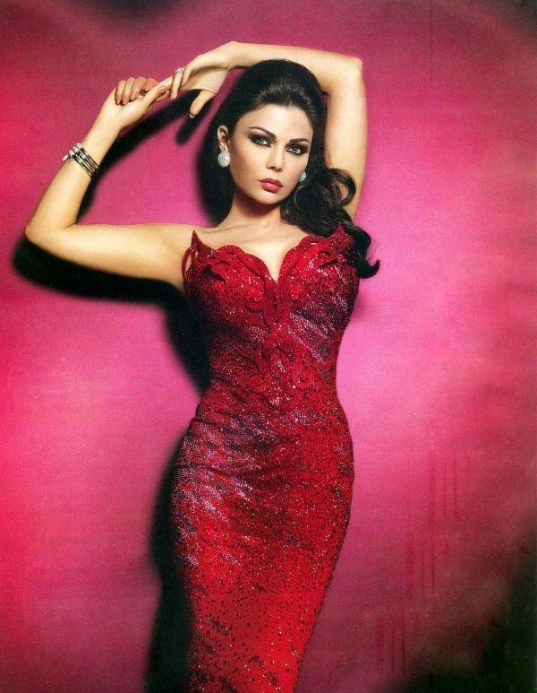 Haifa Wehbe Hot Red Dress Dresses Red Dress