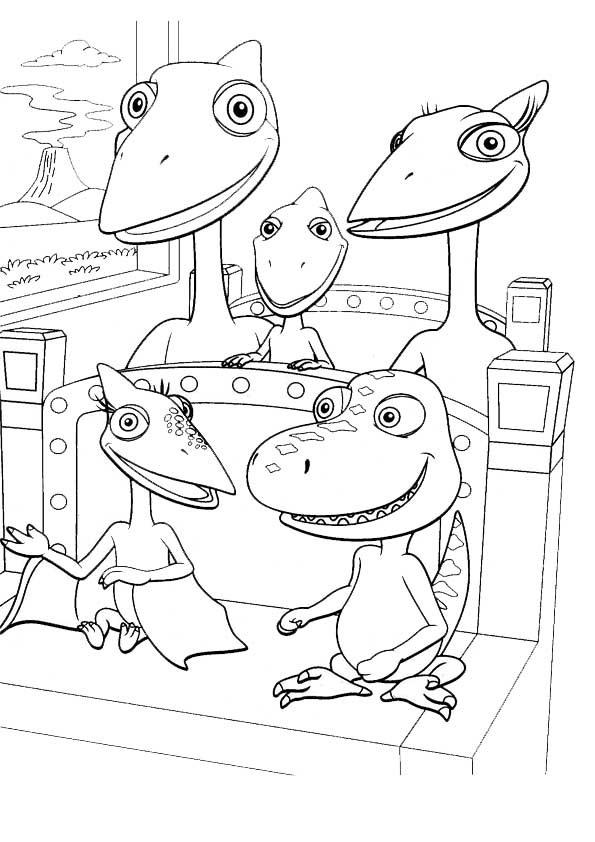 Dino Zug Bilder Zum Ausmalen Kinder Ausmalbilder
