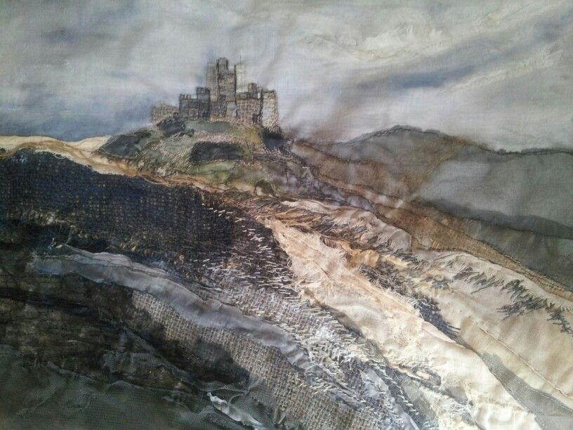 Bamburgh Sands -Laura Edgar #textile art # embroidery