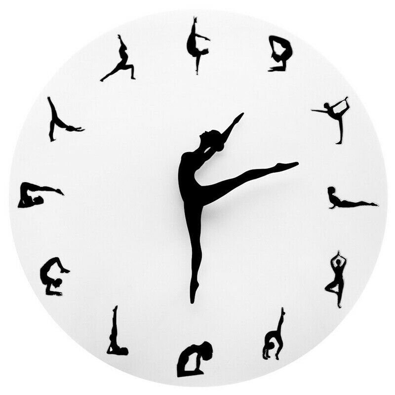 Ballet Clock Wall Clock Gym Meditation Decor Wall Clock